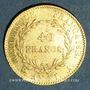 Monnaies Consulat (1799-1804). 40 francs an XIA.. (PTL 900‰. 12,90 g)