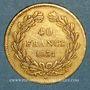 Monnaies Louis Philippe (1830-1848). 40 francs tête laurée 1831A. ( PTL 900 /1000. 12,90 g)
