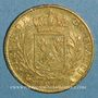 Monnaies Louis XVIII (1815-1824). 20 francs buste habillé 1815 A. (PTL 900‰. 6,45 g). Type avec 5 court