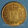 Monnaies Louis XVIII (1815-1824). 20 francs buste habillé 1815 A. (PTL 900‰. 6,45 g).