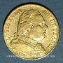 Monnaies Louis XVIII (1815-1824). 20 francs buste habillé 1815A. (PTL 900‰. 6,45 g). Type avec 5 long