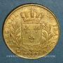 Monnaies Louis XVIII (1815-1824). 20 francs buste habillé 1815A. (PTL 900‰. 6,45 g). Type avec 5 moyen