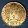 Monnaies Louis XVIII (1815-1824). 20 francs buste habillé 1815A. (PTL 900‰. 6,45 g)
