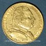 Monnaies Louis XVIII (1815-1824). 20 francs buste habillé 1815A. (PTL 900/1000. 6,45 g). Type avec 5 court