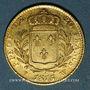 Monnaies Louis XVIII (1815-1824). 20 francs buste habillé 1815W. Lille. (PTL 900‰. 6,45 g)