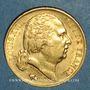 Monnaies Louis XVIII (1815-1824). 20 francs buste habillé 1824A. (PTL 900/1000. 6,45 g)