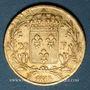 Monnaies Louis XVIII (1815-1824). 20 francs buste nu 1818W. Lille. (PTL 900‰. 6,45 g)