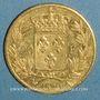 Monnaies Louis XVIII (1815-1824). 20 francs buste nu 1820A. (PTL 900‰. 6,45 g)