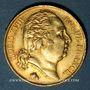 Monnaies Louis XVIII (1815-1824). 20 francs buste nu 1820Q. Perpignan. (PTL 900‰. 6,45 g)