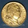 Monnaies Louis XVIII (1815-1824). 20 francs buste nu 1822A. (PTL 900‰. 6,45 g)
