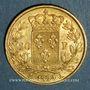 Monnaies Louis XVIII (1815-1824). 20 francs buste nu 1824 A. (PTL 900‰. 6,45 g)