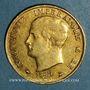 Monnaies Royaume d'Italie. Napoléon I (1805-1814). 40 lires 1814 /180 M. Milan. (PTL 900‰. 12,90 g)