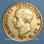 Monnaies Royaume d'Italie. Napoléon I (1805-1814). 40 lires 1814M. Milan. Petit M. (PTL 900‰. 12,90 g)