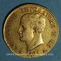 Monnaies Royaume d'Italie. Napoléon I (1805-1814). 40 lires 1er type 1808 M. Milan. (PTL 900‰. 12,90 g)