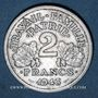 Monnaies Etat Français (1940-1944). 2 francs francisque 1943B