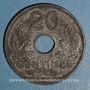 Monnaies Etat français (1940-1944). 20 centimes type 20 1943. Légère