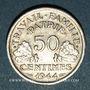 Monnaies Etat français (1940-1944). 50 centimes Francisque 1944B