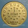 Monnaies Euro des Villes. Lyon (69). 3 euro 1996