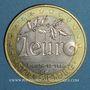 Monnaies Euros des Villes. Strasbourg. 1 euro 1996