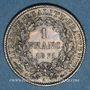 Monnaies Gouvernement de Défense Nationale (1870-1871). 1 franc Cérès, 1871A. Petit A