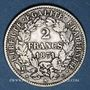 Monnaies Gouvernement de Défense Nationale (1870-1871). 2 francs avec légende. 1871A. Petit A