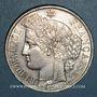 Monnaies Gouvernement de Défense Nationale (1870-1871). 5 francs Cérès avec légende. 1870A