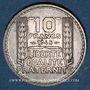 Monnaies Gouvernement provisoire (1944-1947). 10 francs Turin 1945, rameaux courts