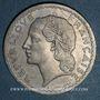 Monnaies Gouvernement provisoire (1944-1947). 5 francs Lavrillier aluminium 1945 B