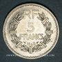 Monnaies Gouvernement provisoire (1944-1947). 5 francs Lavrillier aluminium 1945