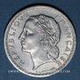 Monnaies Gouvernement provisoire (1944-1947). 5 francs Lavrillier aluminium 1946
