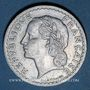Monnaies Gouvernement provisoire (1944-1947). 5 francs Lavrillier aluminium 1946C