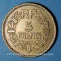 Monnaies Gouvernement provisoire (1944-1947). 5 francs Lavrillier bronze d'aluminium 1945 C