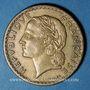 Monnaies Gouvernement provisoire (1944-1947). 5 francs Lavrillier bronze d'aluminium 1945C