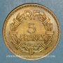 Monnaies Gouvernement provisoire (1944-1947). 5 francs Lavrillier bronze d'aluminium 1946