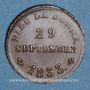 Monnaies Henri V, prétendant (1830-1883). Module de 1/2 franc 1833 en bronze