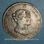 Monnaies Italie. Lucques et Piombino. Elisa Bonaparte et Félix Baciocchi (1805-1814). 5 franchi 1807