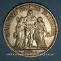 Monnaies La Commune (18 mars - 28 mai 1871). 5 francs Hercule 1871 A. Camélinat