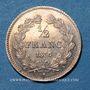 Monnaies Louis-Philippe (1830-1848). 1/2 franc 1835 A. Variété avec le chiffre 5 de la date plus petit