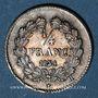 Monnaies Louis Philippe (1830-1848). 1/4 franc 1834H. La Rochelle. 46 218 ex !