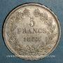 Monnaies Louis Philippe (1830-1848). 5 francs 1832W. Lille