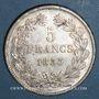 Monnaies Louis Philippe (1830-1848). 5 francs 1833 B. Rouen