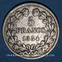 Monnaies Louis Philippe (1830-1848). 5 francs 1834W. Lille