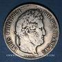 Monnaies Louis Philippe (1830-1848). 5 francs 1837 W. Lille