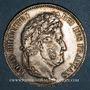 Monnaies Louis Philippe (1830-1848). 5 francs 1838W. Lille