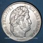 Monnaies Louis Philippe (1830-1848). 5 francs 1839 W. Lille