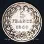 Monnaies Louis Philippe (1830-1848). 5 francs 1840 W. Lille