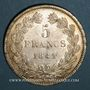 Monnaies Louis Philippe (1830-1848). 5 francs 1841 W. Lille