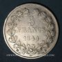 Monnaies Louis Philippe (1830-1848). 5 francs 1844 BB. Strasbourg