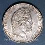 Monnaies Louis Philippe (1830-1848). 5 francs 1845 W. Lille
