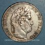 Monnaies Louis Philippe (1830-1848). 5 francs 1845A. Proue de navire